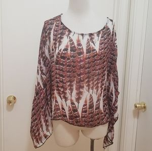 3for$20 poncho style blouse see through